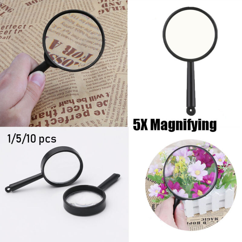 viewer  5X Magnifying Reading Glass Lens Hand Held Magnifier