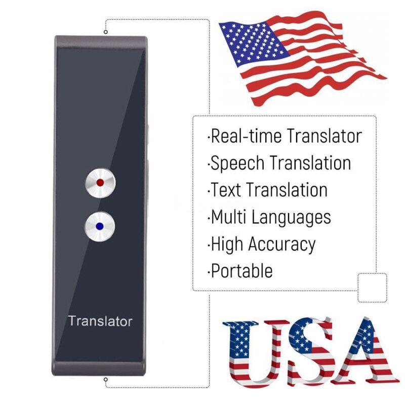 Smart Language Translator Pocket Travel Real-Time Multi Speech/Text Translation