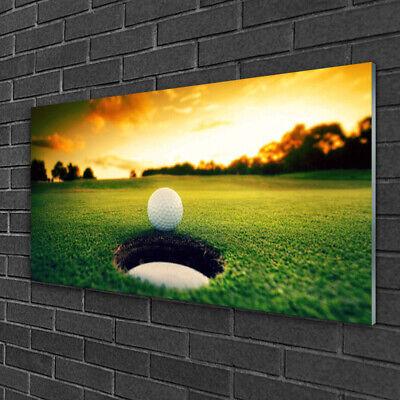 Imagen en vidrio Impresión Cuadro de 100x50 Pelota de golf Naturaleza