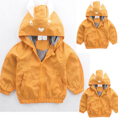 Jacket Rabbit Baby Outerwear Coat Boys Girls Kids Children Hooded Clothing Jacke