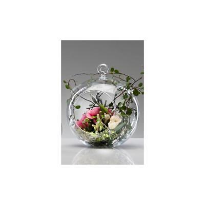 Glaskugel mit Öffnung, Hängevase KUGEL Glas klar H. 16,5cm Sandra Rich