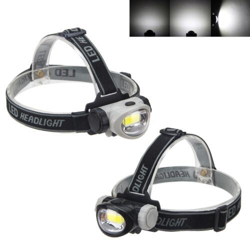 MINI 400 Lm COB LED Stirnlampe Kopflampe Lampe 3AAA 3 Mode Jogging Headlight