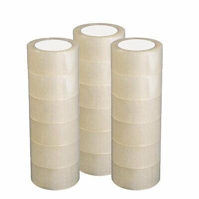 12 Rolls Packingshippingbox Carton Sealing Clear Tape 2.7 Mil 1.8 X 60 Yards