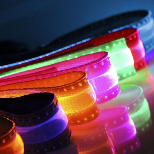 Adjustable LED COLOR Light Up  Pet Dog Cat Neck Collar Night Flashing Safety