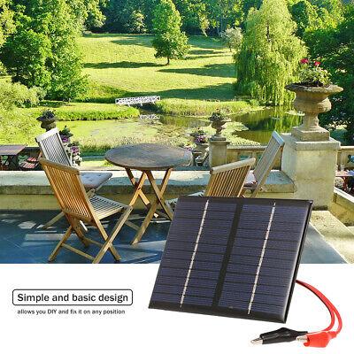 1.5W 12V Polykristalline Solarpanel Charger mit Alligator Clip für Garten J2M3 1,5 W Solar Panel