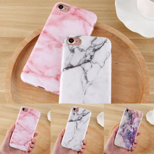 Marmor Back Skin Case Handy Hülle Schale Schutz Tasche Cover Für iPhone 5 6S X 8