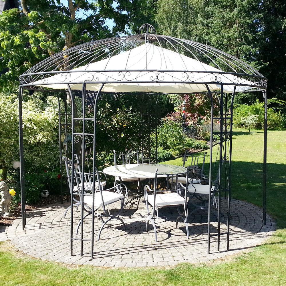 eisenpavillon gartenpavillon rosenpavillon metallpavillon pavillon eisen 360cm ebay. Black Bedroom Furniture Sets. Home Design Ideas