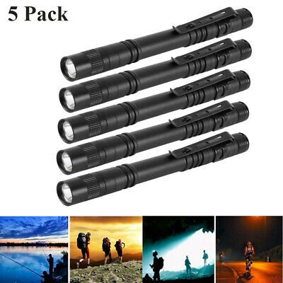 5pcs Cree XPE-R3 LED Flashlight Mini Light Penlight Portable Pen Torch Lamp US