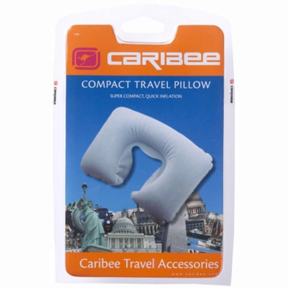CARIBEE COMPACT TRAVEL PILLOW x 10 pack