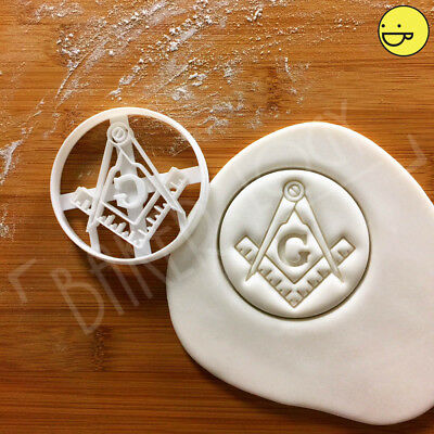 Square and Compasses cookie cutter | Masonic Freemasonry architect geometry
