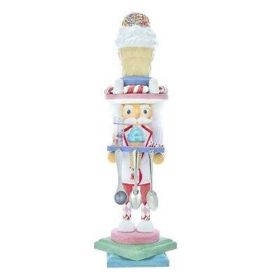 "[Kurt Adler Hollywood Nutcracker - Ice Cream Hat Christmas Nutcracker 19"" HA0404 </Title]"