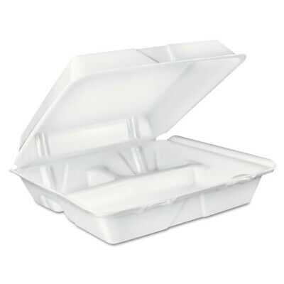 Dart Dcc90ht3r 200crt 8 Oz 3-compartment Foam Hinged Lid Container - White New
