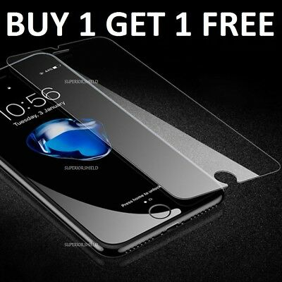 100% Genuine Tempered Glass Screen Protector Film For Apple iPhone 7 -NEW