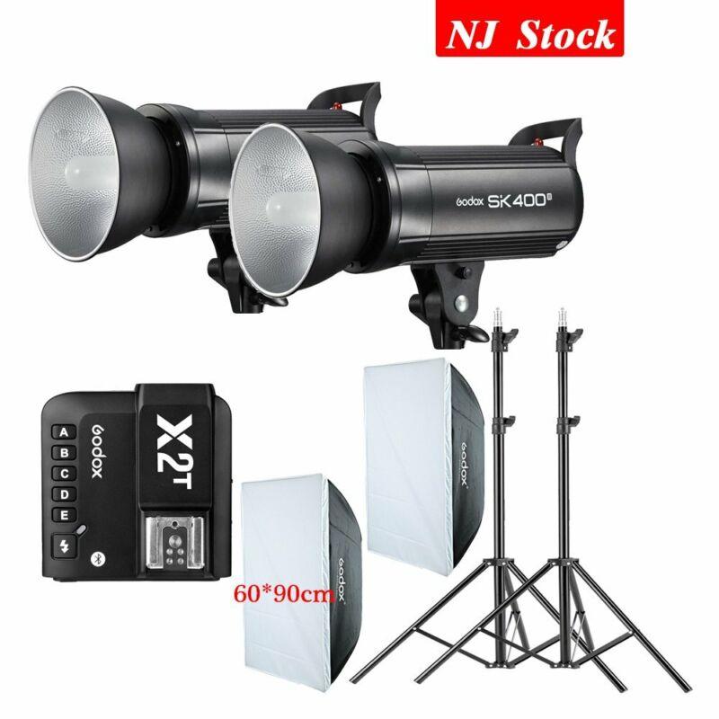 Godox SK400II Flash Monolight 60*90cm Softbox X2T Bluetooth Mobile Transmitter