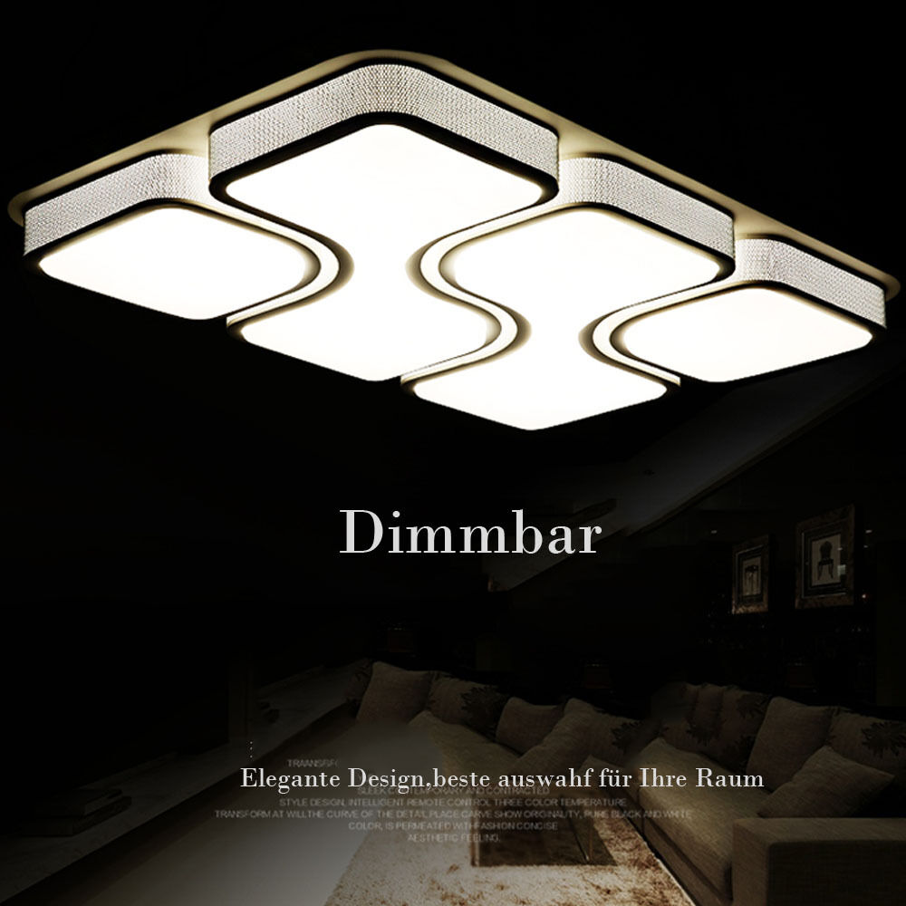 24w 80w design led deckenlampe dimmbar led deckenleuchte wohnzimmer lampe mit fb eur 42 49. Black Bedroom Furniture Sets. Home Design Ideas