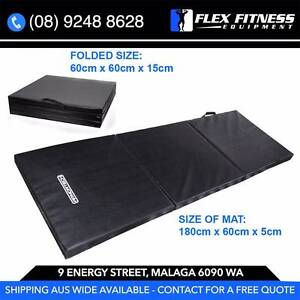 New Tri-Fold Gym Mat, 5cm Thick Extra Padding - Folds Up Malaga Swan Area Preview