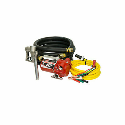 Fill-rite 12v Dc 8 Gpm Portable Fuel Transfer Pump With Hose Nozzle Open Box