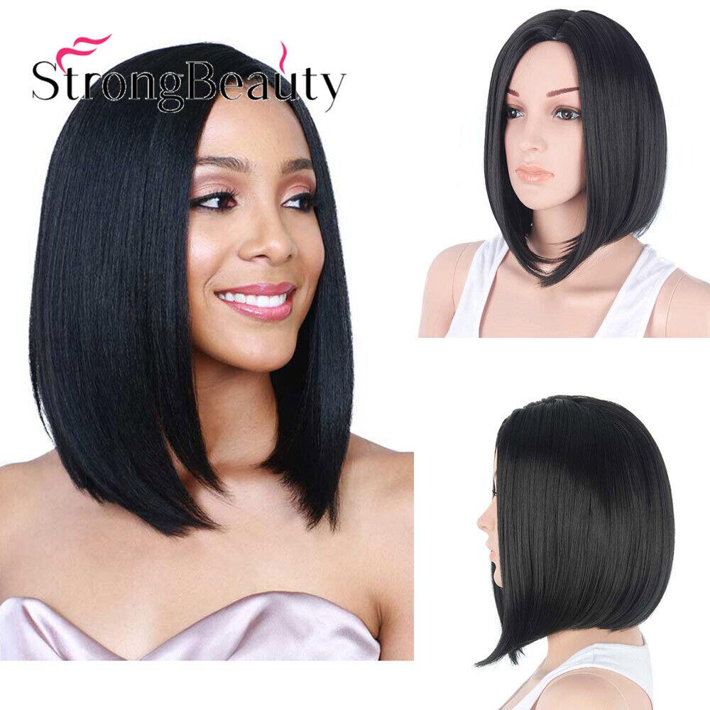 12/'/' Bob Cut Natural Black Synthetic Cosplay Wig NEW