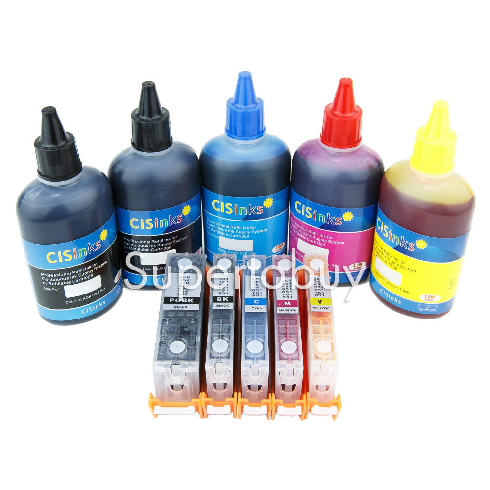 Empty Continuous Ink System For Canon PGI-250 CLI-251 PIXMA MG7520 IP8720 CIS 6C