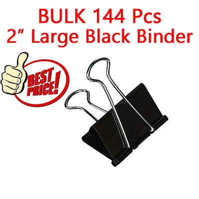144pk Bazic Large 2 Black Binder Clip