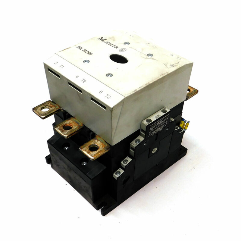 Moeller Model DIL 250M 3 Pole 3 Phase Contactor Block 600 VAC High Range Series