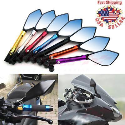 Universal CNC Motorcycle Rearview Side Mirrors For Honda Suzuki Yamaha YZF R1 R6 Honda Custom Motorcycles