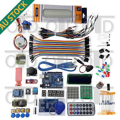 The Arduino Starter Kit UNO R3 Mega 1602 LCD Servo Stepper Motor RFID IR Remote