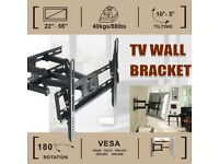 TV WALL BRACKET FITS FLAT AND CURVED TV'S FROM 22 to 55 inch