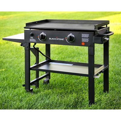 Blackstone 28 inch Outdoor Flat Top Gas Hibachi Grill Griddle Station 2 Burner