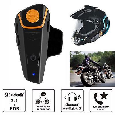 BT-S2 1000m Bluetooth Motorbike Helmet Headset Intercom Waterproof Phone Calls