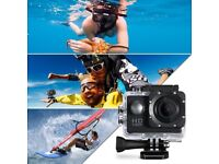 New Dashcam Sport Action Waterproof (30m) Video Camera 2in screen, 1080p 30fps 120 wideangle, mounts