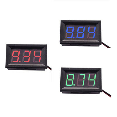 Mini Dc 5-120v Voltage Volt Meter Voltmeter Blue Led Panel 3-digital Display