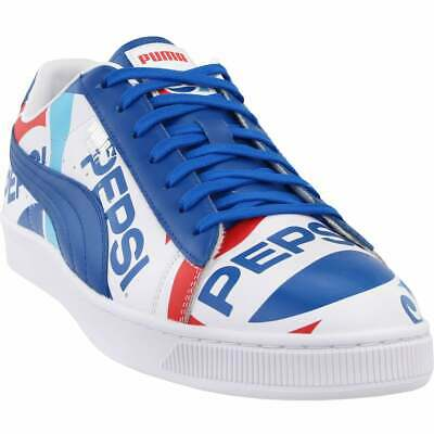 Puma Mens Basket - Puma basket x pepsi  - Blue;White - Mens
