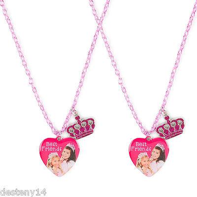 Sophia Grace Rosie Girls Best Friends BFF Pink Heart Pendant Necklaces Set of 2