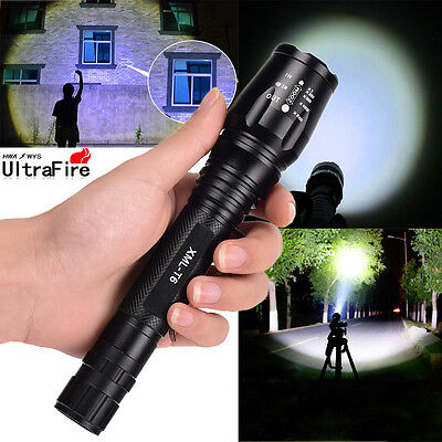 Tactical Police 12000Lumen CREE XM-L T6 LED 5Modes Flashlight Aluminum Torch USA