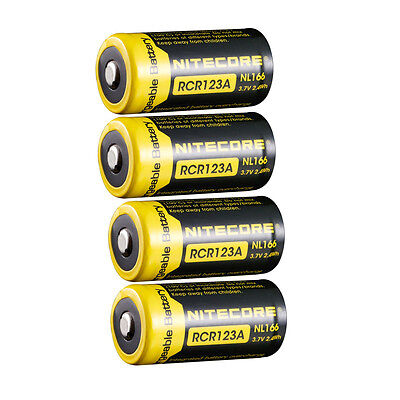 4X Nitecore Nl166 Rcr123a 16340 650Mah 7A 3 7V Li Mn Rechargeable Battery Usa