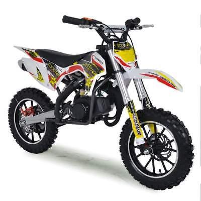 50cc Dirt Bike Kids Mini Funbikes MXR 61cm Yellow Motorbike Petrol  for sale  United Kingdom