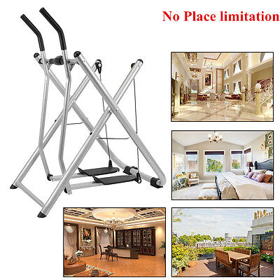 Foldable Air Walker Gravity Machine Fitness Exercise Strider Gym Cross Trainer
