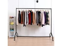 HEAVY DUTY GARMENT RAIL CLOTHES HOME SHOP DISPLAY 2FT,3FT,4FT,5FT,6FT