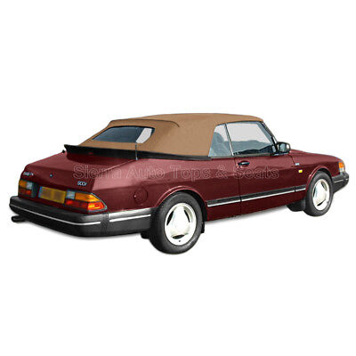 Saab 900 Convertible Top 1986-94 in Tan Twillfast II Cloth w/Glass Window for sale  North Hollywood