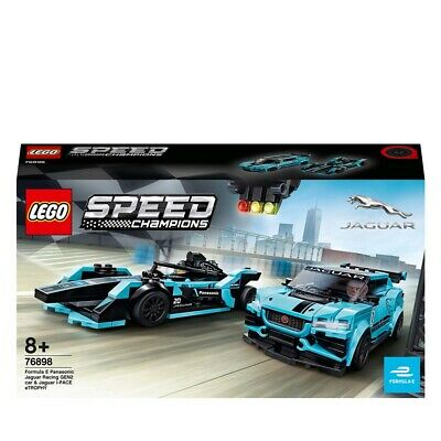 LEGO Speed Champions Panasonic Jaguar Racing Cars Set 76898 Age 5+ 565pcs