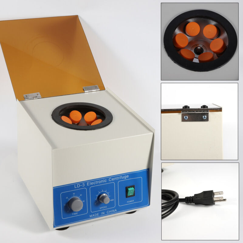 LD-3 Electric Benchtop Centrifuge Medical Dental Lab Centrifugal Machine 4000rpm