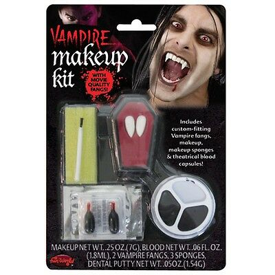 Vampire Make-up Kit with Fangs. Halloween Accessories for Fancy Dress. (Girl Halloween Vampire Makeup)