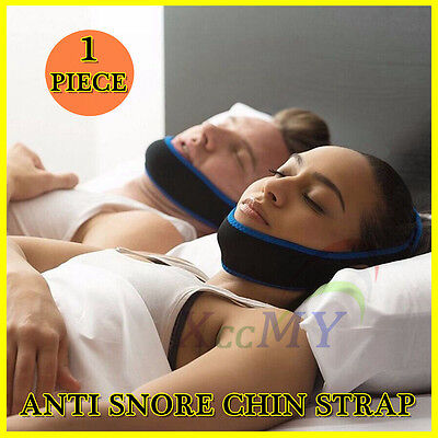 Anti Snore Aid Sleep Apnea Stop Snoring Strap Belt Jaw Solution Chin Support UK