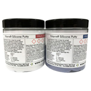 Polycraft Silicone Putty RTV Moulding Making Rubber - 500g Kit