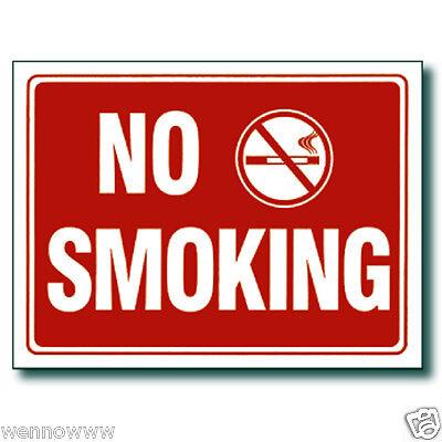 2 Pcs 9 X 12 Inch Red White Flexible Plastic No Smoking Sign