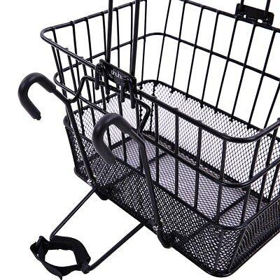 Ohuhu Mesh Bottom Bicycle Lift Off Basket, Black