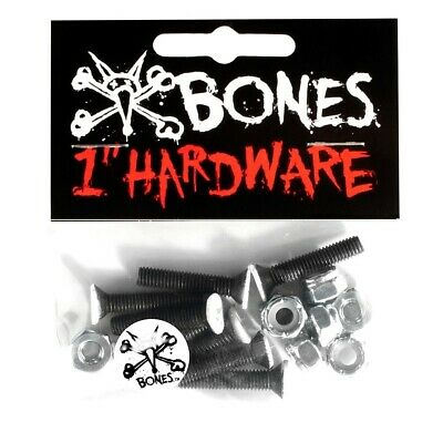 "BONES  ""1inch Hardware"" Skateboard Truck Mounting Bolts 1"" Phillips Head Bolt"
