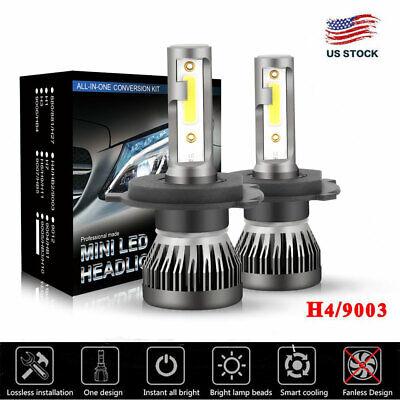 White Leds Bulk (CREE COB H4 9003 225000LM 1500W LED Headlight Kit Hi/Lo Beam Bulbs 6000K)