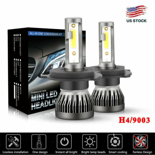 CREE COB H4 9003 225000LM 1500W LED Headlight Kit Hi/Lo Beam